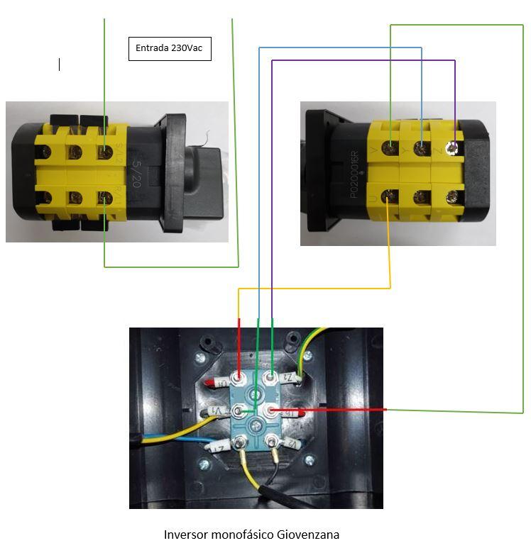 Conexionado interruptor motor monofásico
