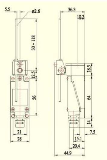 Dimensiones ME-8107