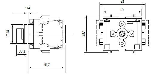 Dimensiones interruptor SE1632