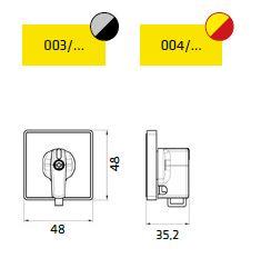 Dimensiones caratula frontal 003 y 004