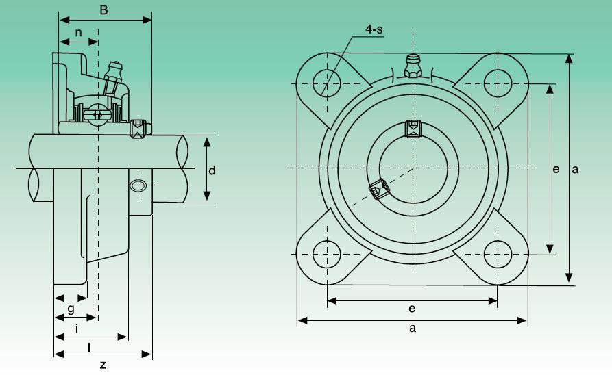 Dimensiones soporte UCF210 marca ISB