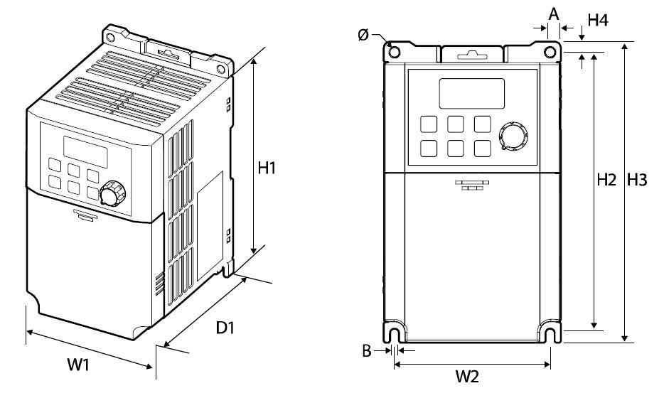 Plano dimensiones convertidor M100 LSis