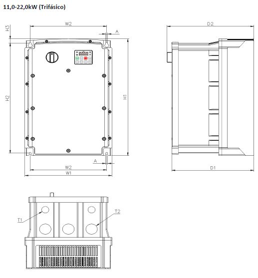 dimensiones S100 11-22kw