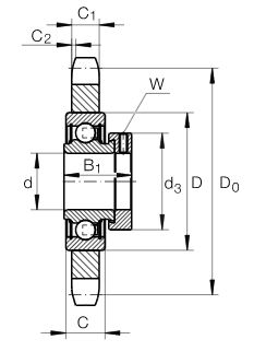 Dimensiones rueda dentada perfil