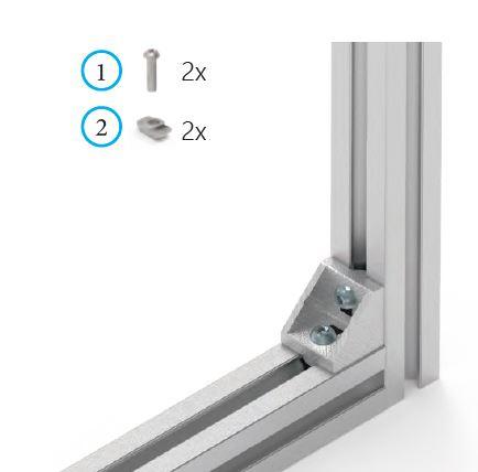 Montaje escuadra aluminio perfil 30x30