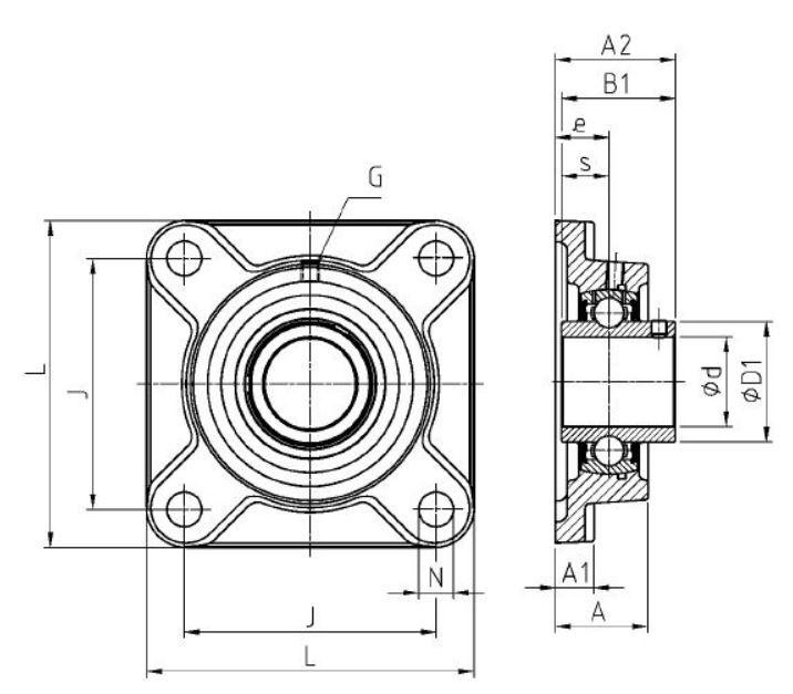 Dimensiones soportes UCF de SNR