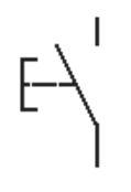 Simbolo pulsador abierto