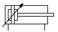 Simbolo cilindro amortiguacion neumatica