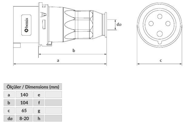 Dimensiones bc1-1504-2011