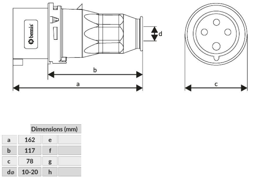 Dimensiones clavija CEE 32A 3P T (1)