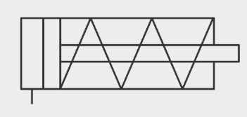 simbolo cilindro neumatico simple efecto