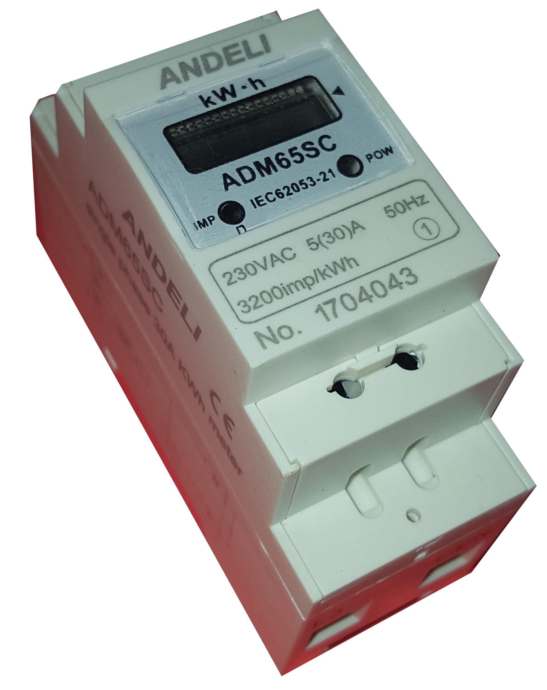 Contador De Energía Eléctrica Monofásico 2 Módulos Carril Din