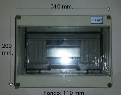 Caja 15 elementos para magnetotermicos y diferenciales, dimensiones