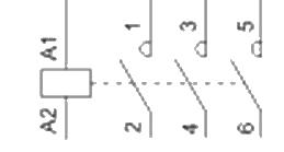 Diagrama contactor trifasico sin auxiliares