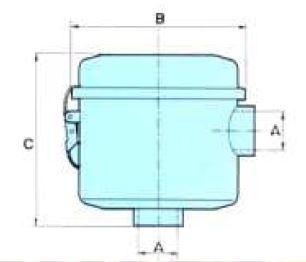 dimensiones filtro vacio BGFN