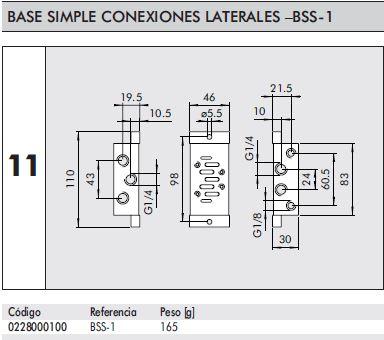 Dimensiones placa base iso individual talla 1