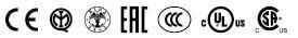 Logotipo normativa botoneras serie HP resumido