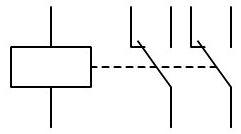 Rele 2 contactos conmutados