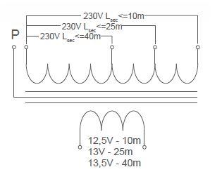 Esquema eléctrico transformador para piscina