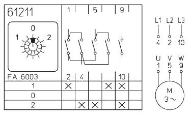 Interruptor Inversor Trifásico 20a 36x36 Maneta Negra Precio Adajusa Pt