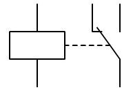 Simbolo electrico rele conmutado