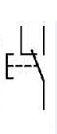 Simbolo pulsador electrico