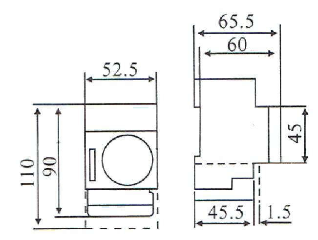 Dimensiones reloj programador horario SUL181H Adajusa