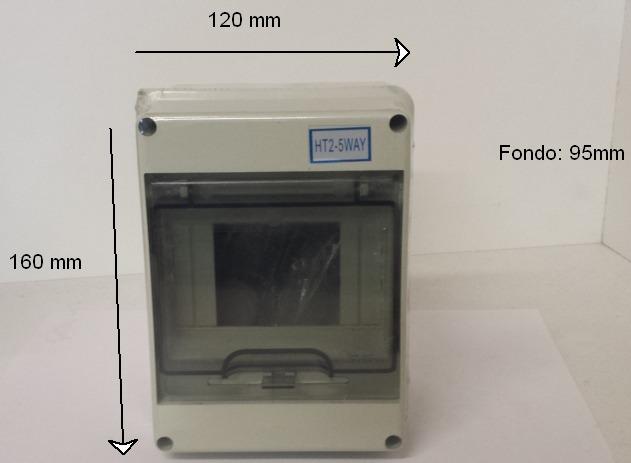 caja 5 elementos con medidas para magnetotermcios y diferenciales