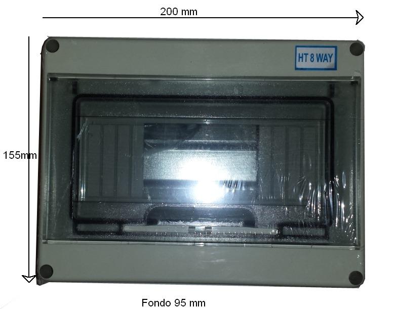 Caja 8 elementos para magnetotermicos y diferenciales