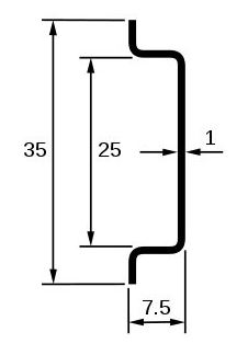 dimensiones carril din simetrico omega