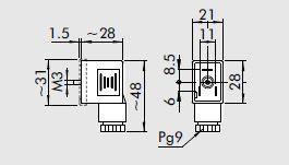Conector para electrovalvula