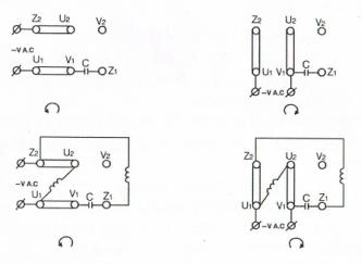 esquema conexionado motor medio par arranque