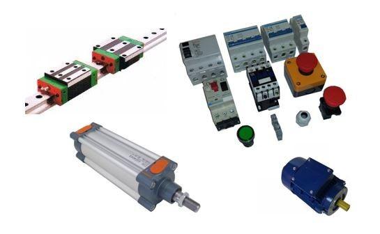 Maquinaria, repuestos y accesorios para la industria, material mecánico, neumático y eléctrico.