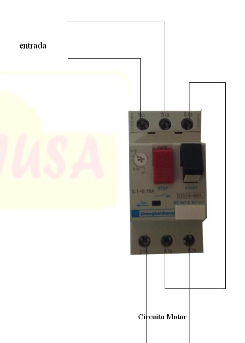 conexion disyuntor motor monofasico