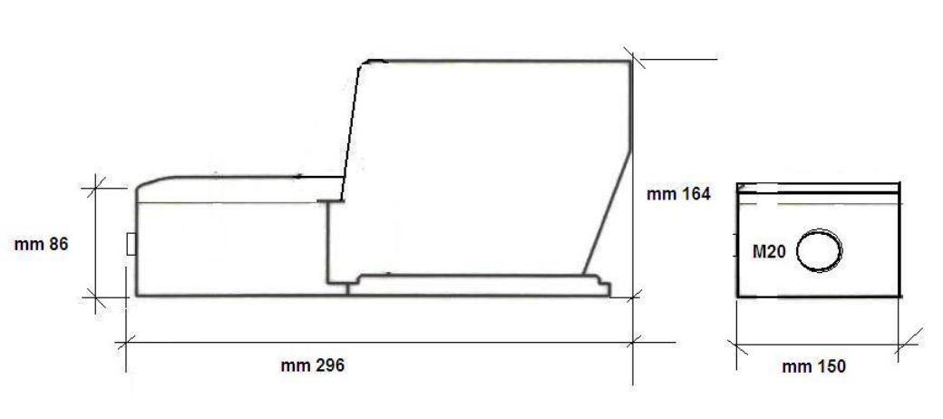 Dimensiones pedal eléctrico PCK 00