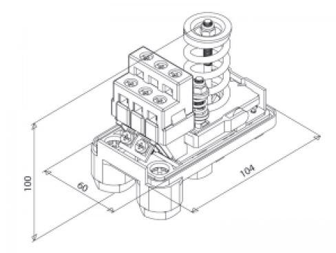 Presostato compresor trif sico 1 4 pta 12 4v italtecnica for Compresor hidroneumatico