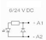 Modulo LM-CF 6/24Vdc diodo proteccion y led