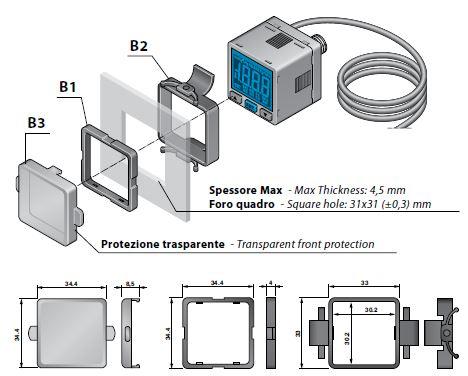 Accesorios montaje transpanel presostato