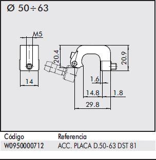 dimensiones soporte detector magnético 50-63