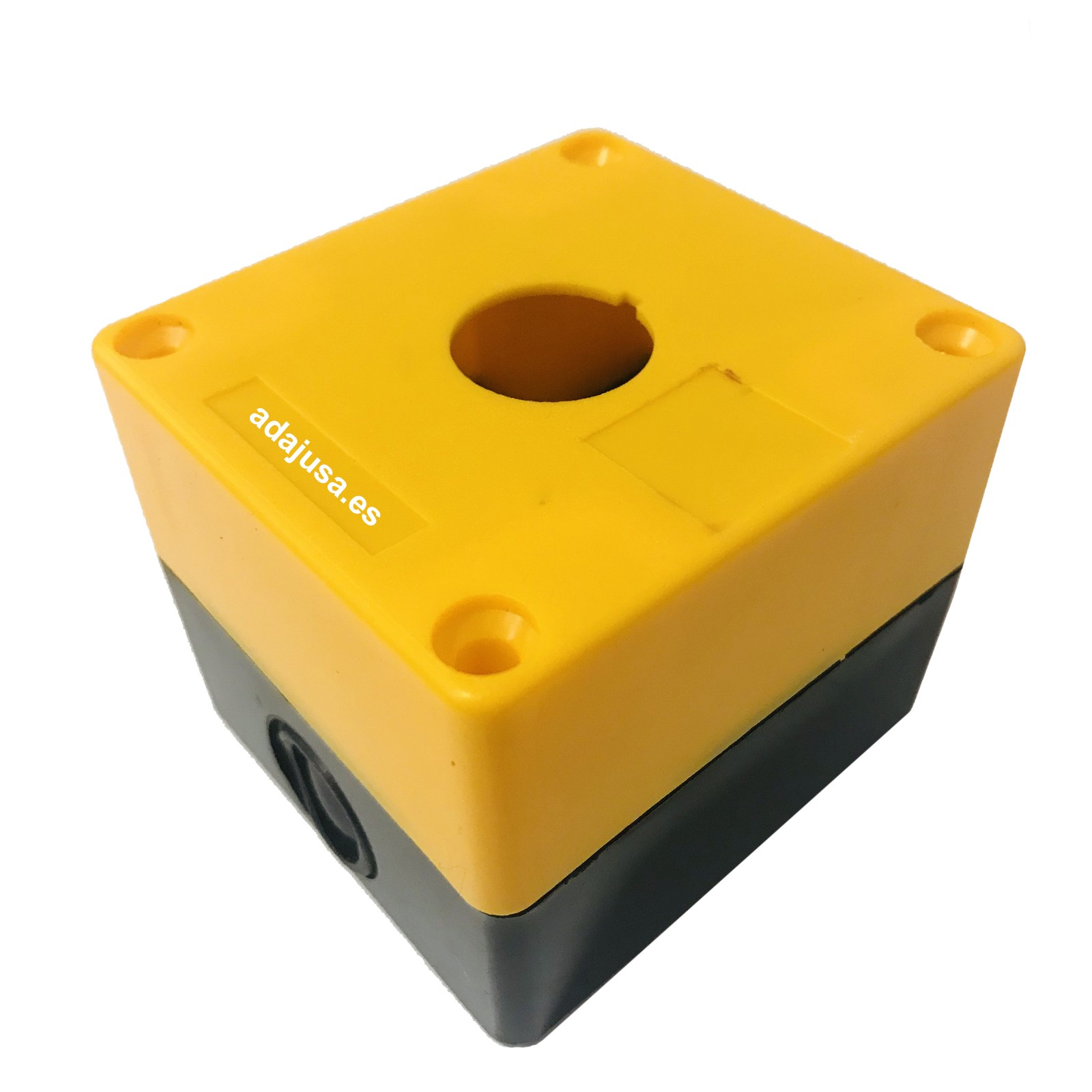 Caja botonera amarilla 1 elemento diámetro 22 plástico