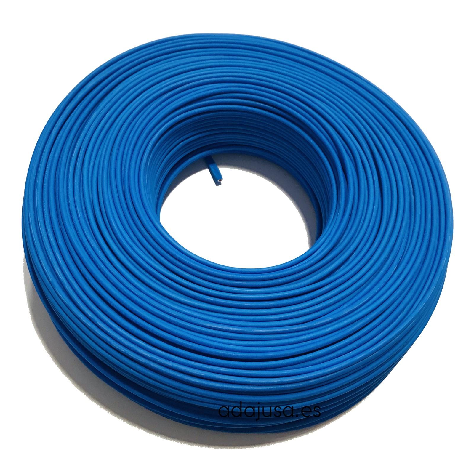 Cable flexible unipolar 4 mm color azul