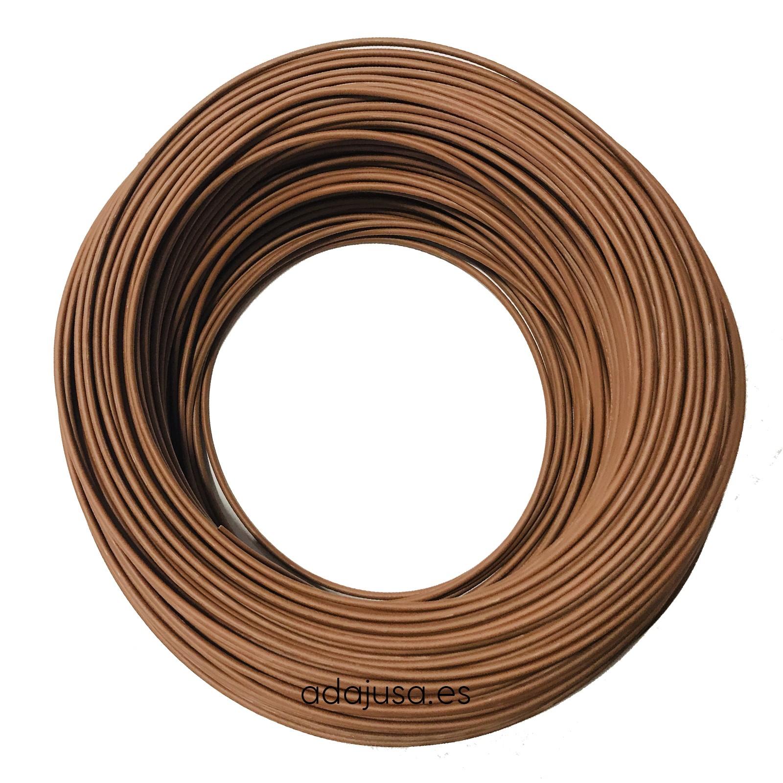 Cable flexible unipolar 4 mm color marrón