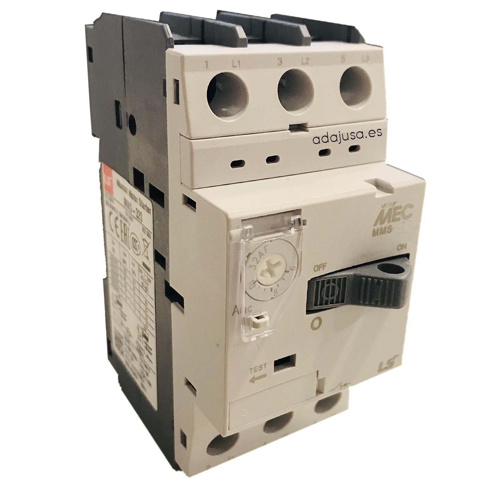 Disyuntor guardamotor 2,5 a 4 A MMS-32S - LSis